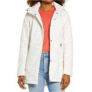 The North Face White Hooded Waterproof Parka Sz M